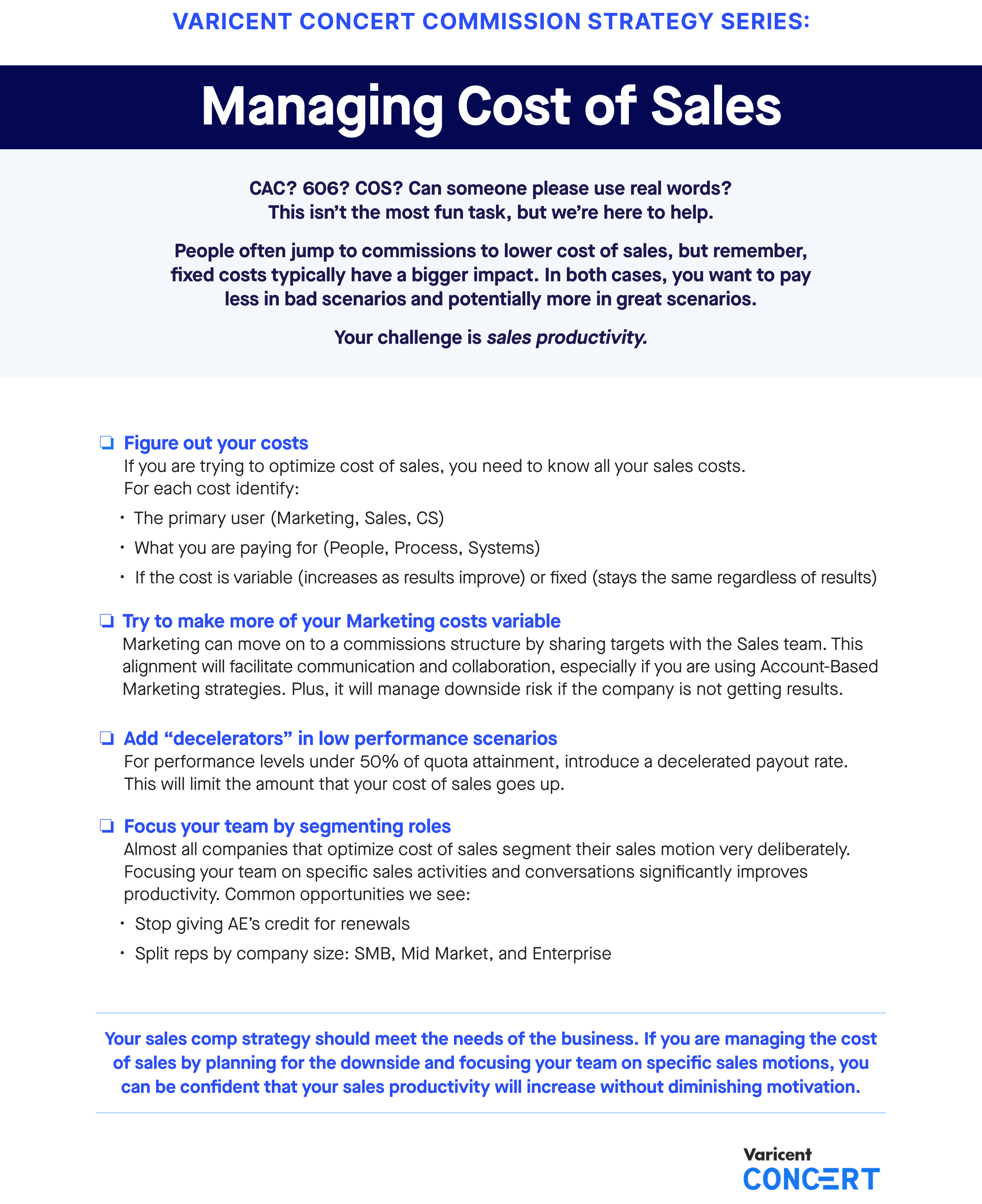 Commission Strategy Series: Managing Cost of Sales