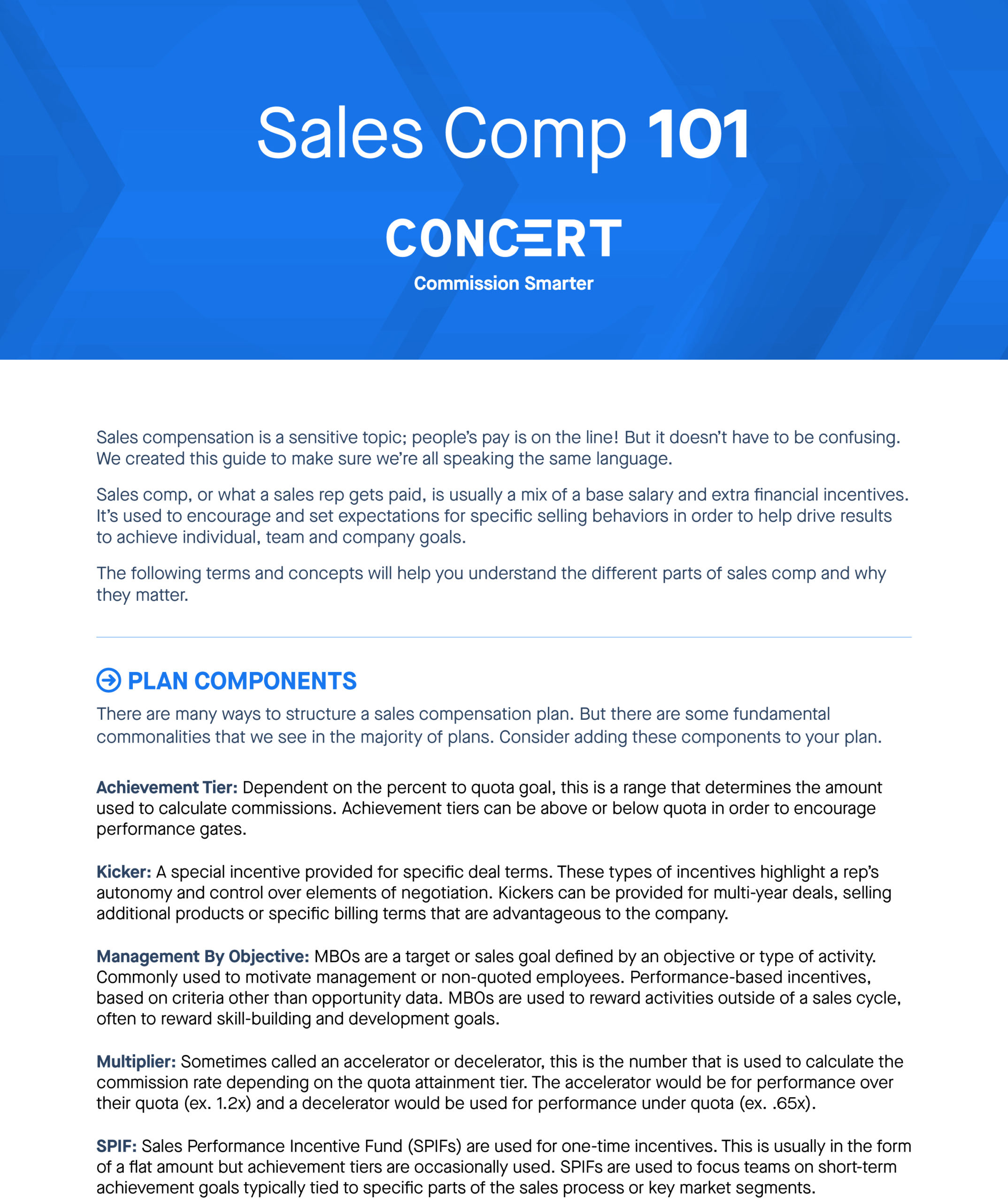 Sales Comp 101