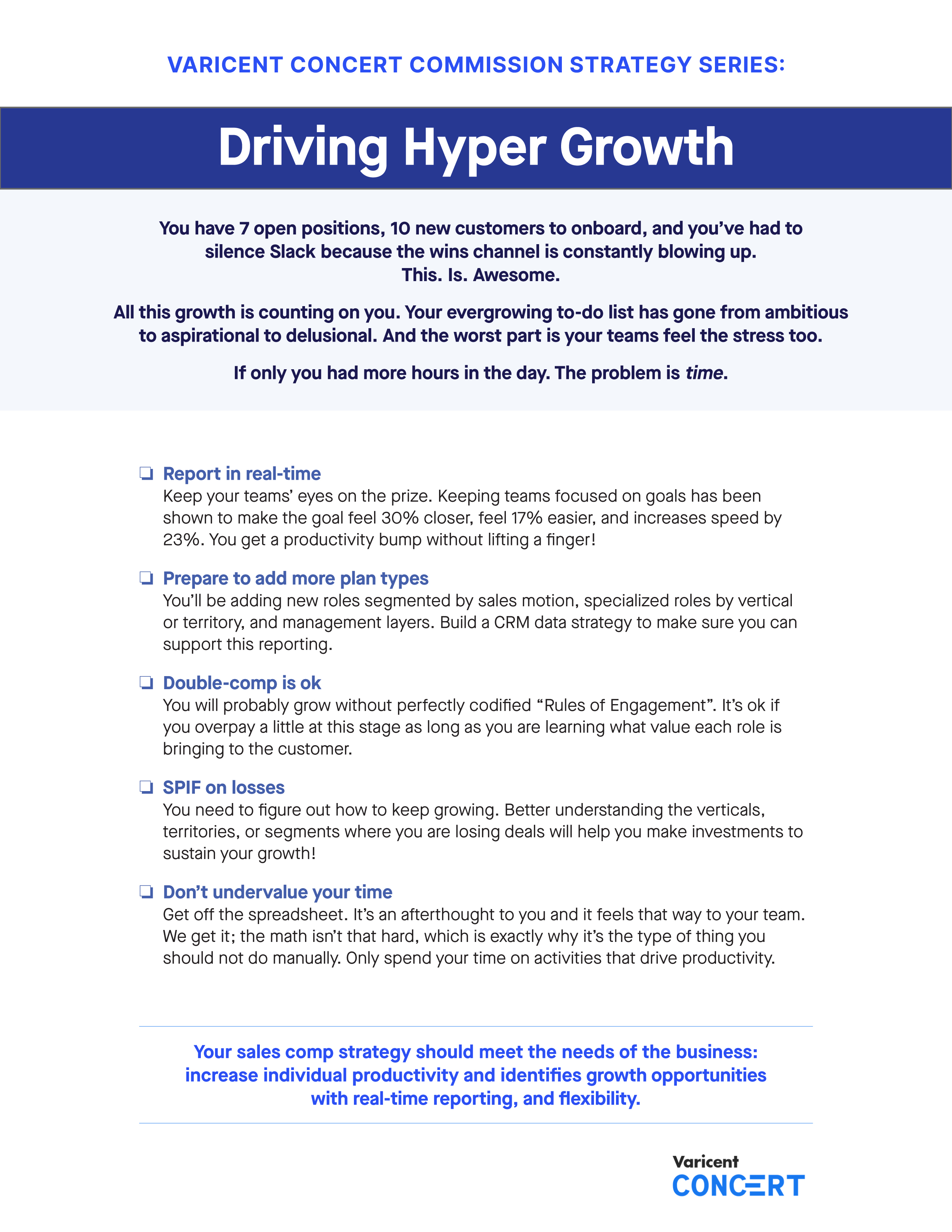 Commission Strategy Series - Driving Hyper Growth